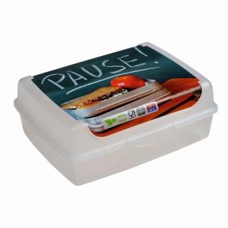 Pojemnik na żywność - Carla 'Pause' - 17 x 13 cm - transparentny