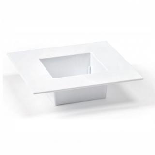 Ikebana kwadratowa do kompozycji - 19 cm - biała