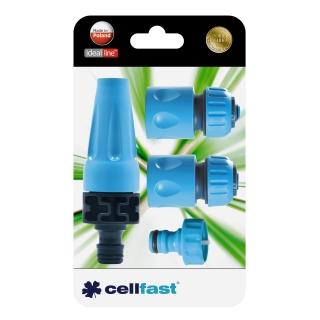 Zestaw przyłączy ze zraszaczem prostym - 1/2'' - CELLFAST