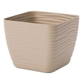Osłonka kwadratowa Sahara petit - 11 cm - cafe latte