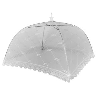 Moskitiera, osłonka na żywność w kształcie parasola - chroni od muszek - 43 x 43 cm