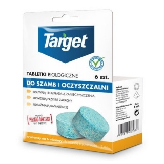 Tabletki biologiczne do szamb i oczyszczalni - Target - 6 szt.