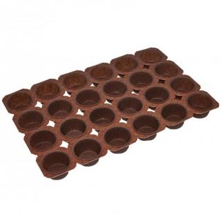 Stelaż do wypieku babeczek i muffinów - na 24 sztuki - brązowy - 20 szt.