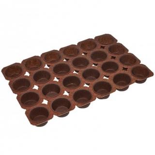 Stelaż do wypieku babeczek i muffinów - na 24 sztuki - brązowy - 5 szt.