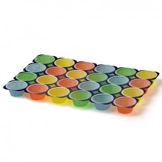 Stelaż do wypieku babeczek i muffinów - na 24 sztuki - mieszanka kolorów - 20 szt.