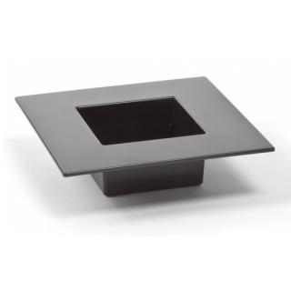 Ikebana kwadratowa do kompozycji - 19 cm - czarna