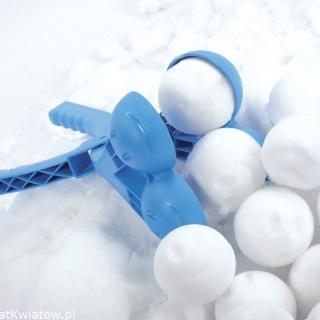 Automat do kulek śniegowych - śnieżkomat podwójny - Snowballee - niebieski