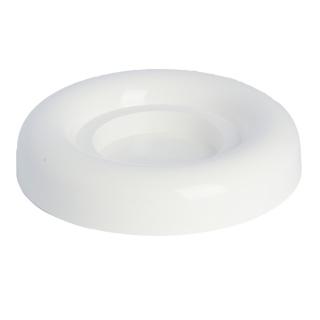 Ikebana okrągła do kompozycji - 18 cm - biała