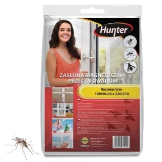 Zasłona magnetyczna przeciw owadom - czarna - 160 x 220 cm - Hunter