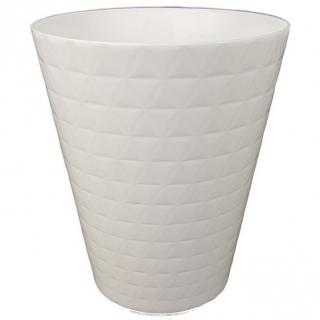 Osłonka do storczyków Diament Petit - 13 cm - biała