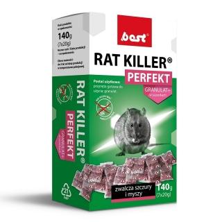 Rat killer perfect - granulat na myszy i szczury w saszetkach - Best - 140 g
