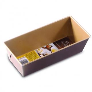 Blacha do pieczenia z warstwą nieprzywierającą, keksówka - czekoladowa - 25 x 11 cm - do pieczenia pasztetów, keksów, chleba