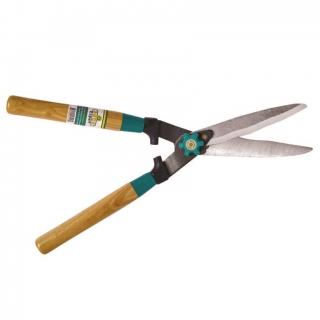 Nożyce faliste do żywopłotu z drewnianą rękojeścią