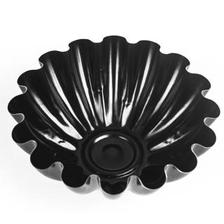 Foremka do pieczenia babeczek z warstwą nieprzywierającą - czarna - śr. 9,5 cm