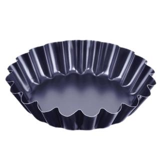 Foremka do pieczenia babeczek z warstwą nieprzywierającą - czarna - śr. 9 cm
