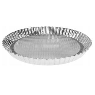 Forma okrągła do pieczenia z blachy ocynowanej - śr. 27,5 cm - doskonała do tarty lub innych ciast