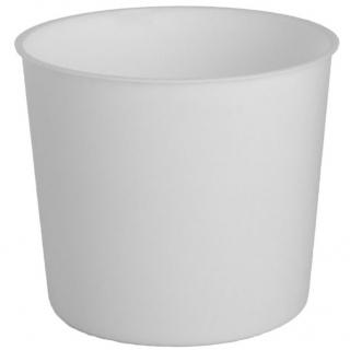 Wkład okrągły - do doniczek o średnicy 15 cm - biały