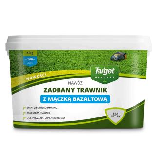 Nawóz granulowany z mączką bazaltową - Zadbany Trawnik - Target - 4 kg