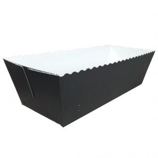Foremka papierowa do pieczenia Easy Bake - prostokątna - 20,3 x 7,6 x 6,2 cm - czarno-biała