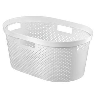 Kosz na pranie Infinity - 40 litrów - biały