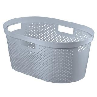 Kosz na pranie Infinity - 40 litrów - szary