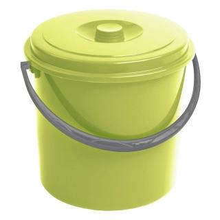 Wiadro okrągłe z pokrywką - 10 litrów - zielony