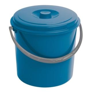 Wiadro okrągłe z pokrywką - 12 litrów - niebieski