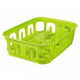 Suszarka prostokątna do naczyń Essentials - zielony