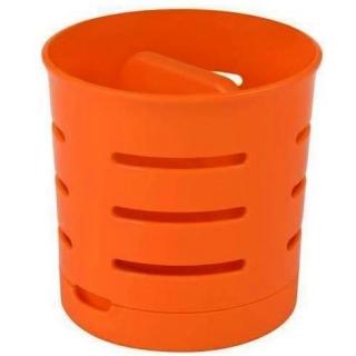 Ociekacz na sztućce - dwukomorowy - pomarańczowy