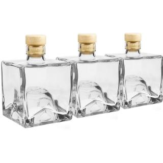 Butelki do nalewek, syropów, soków, które można przechowywać jedna na drugiej - Bruno - 250 ml - 3 szt.