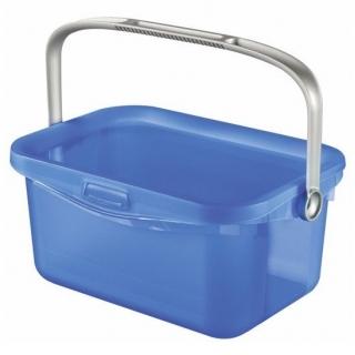 Uniwersalne wiaderko z rączką Multiboxx - 3 litry - transparentny niebieski