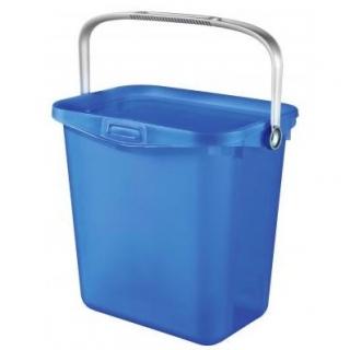 Uniwersalne wiaderko z rączką Multiboxx - 6 litrów - transparentny niebieski