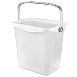 Uniwersalne wiaderko z rączką Multiboxx - 6 litrów - transparentny