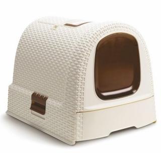 Kuweta, toaleta dla kota - kremowo-brązowy