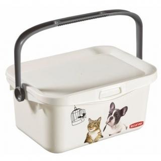 Wiaderko z rączką na karmę dla zwierząt Petlife Multiboxx - 3 litry - psy