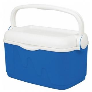Lodówka turystyczna Camping - 10 litrów - niebiesko-biały