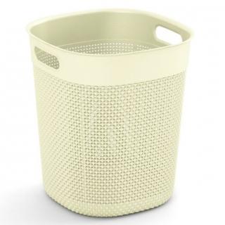 Kosz okrągły Filo Bucket - 16 litrów - kremowy