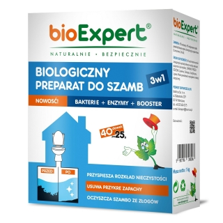 Biologiczny preparat do szamb - nowoczesny i ekologiczny - BioExpert - 1 kg