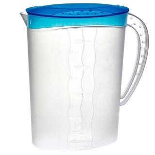 Dzbanek na sok z pokrywką - 2 litry - świeży niebieski