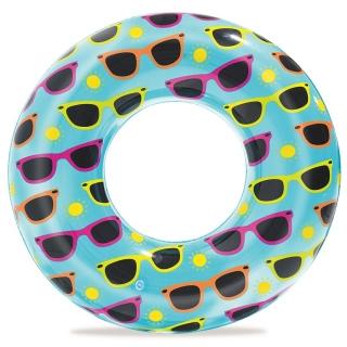 Koło plażowe dmuchane - wzór okulary - 76 cm
