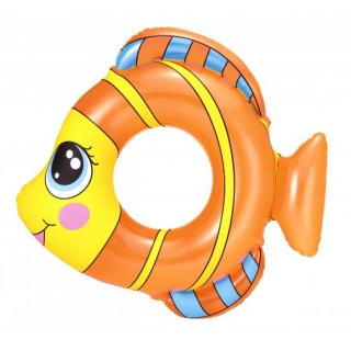 Koło plażowe dmuchane - rybka - pomarańczowy - 81 x 76 cm