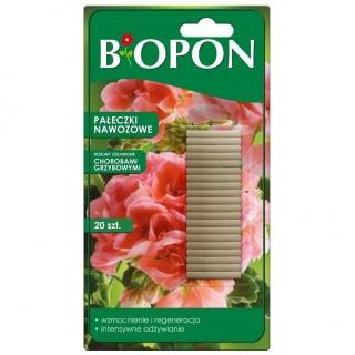 Pałeczki nawozowe do roślin osłabionych chorobami grzybowymi - Biopon - 20 szt.