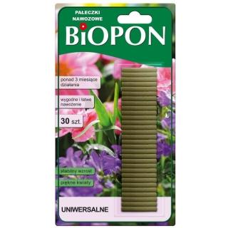 Pałeczki nawozowe uniwersalne - ponad 3 miesiące działania - Biopon - 30 szt.