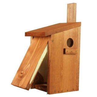 Budka dla wiewiórek do montowania na drzewie - brązowa