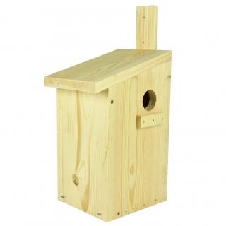 Budka dla wiewiórek do montowania na drzewie - surowa