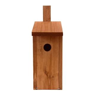 Budka lęgowa dla ptaków - mazurków, bogatek, kowalików, szpaków - brązowa