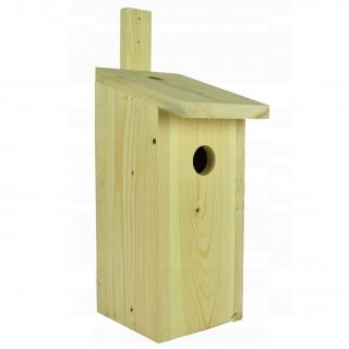 Budka lęgowa dla ptaków - mazurków, bogatek, kowalików, szpaków - surowa