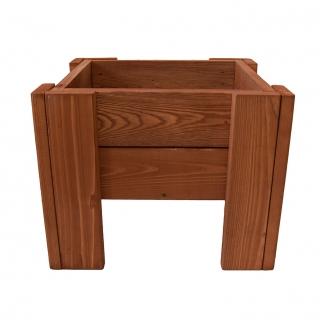Donica drewniana, prostokątna - 38 cm x 34 cm - brązowa