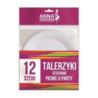 Talerzyki deserowe - 12 szt.