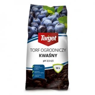 Torf ogrodniczy kwaśny - ph 3,5 - 4,5 - Target - 50 litrów